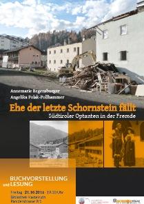 """Buchvorstellung und Lesung in Kastelruth: """"Ehe der letzte Schornstein fällt"""""""
